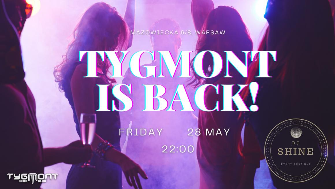 Tygmont is back!